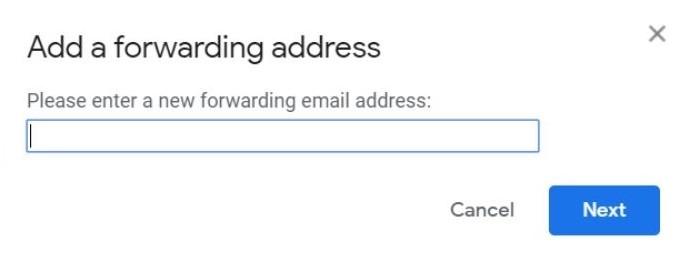 Forward Gmail Add Address