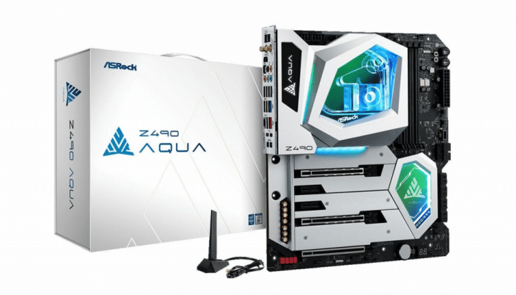 Asrock Announces $1,100 Water-Cooled Z490 Motherboard