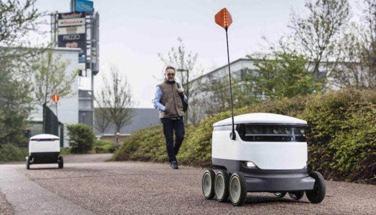 Delivery robots maneuvering to devour food delivery market