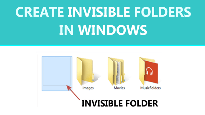 How To Create Invisible Folders In Windows in 2020