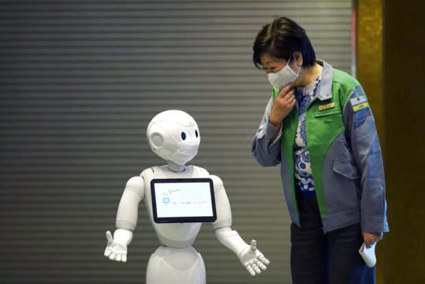 Japan debuts robots at hotels for coronavirus patients