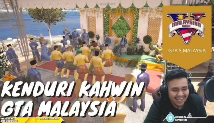 Malaysian gamers conducted a virtual wedding kenduri all in GTA 5