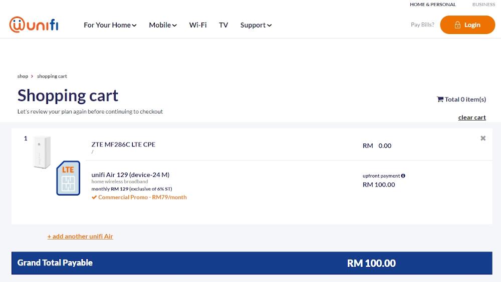 Unifi Air Check Out ZTE MF286C. — SoyaCincau pic