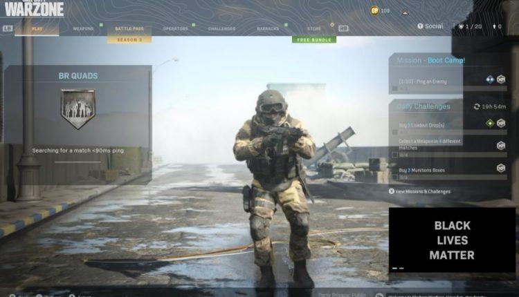 Call Of Duty: Modern Warfare Adds Black Lives Matter Message