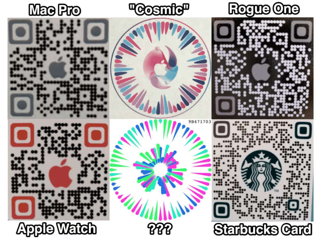 Leaked QR codes that are allegedly part of Apple's new AR app are currently codenamed Gobi.