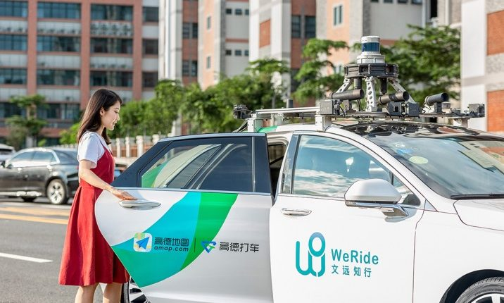 WeRide robotaxis now available on Alibaba's mapping service