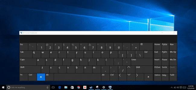 Use On-Screen Keyboard To Type Sensitive information