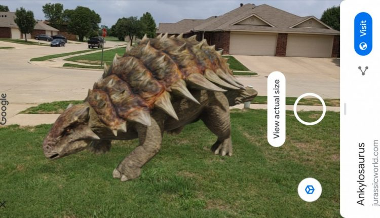 Google's Augmented Reality Dinosaurs Come Alive in Your Phone's Camera