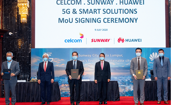 Sunway, Celcom and Huawei Malaysia ink MOU to develop 5G in Sunway City