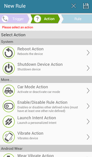 select'Shutdown Device Action'