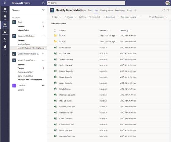 Image showing Teams file sharing