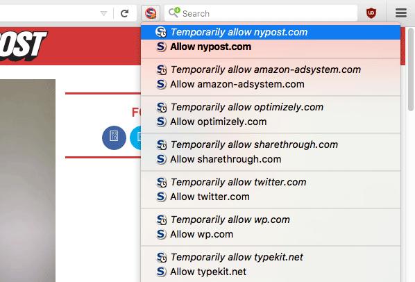 Using NoScript