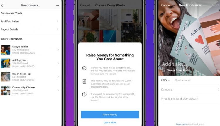 Instagram Launches a New Personal Fundraising Tool