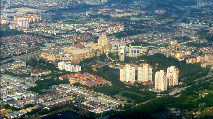 Aerial view of Sunway City which is changing into becoming a smart city.