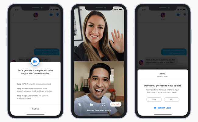 Tinder Adds Video Chatting Between Matches
