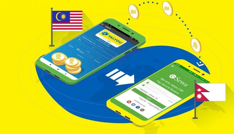 Valyou eWallet users can remit money to Nepal's eSewa eWallet for RM0 fee