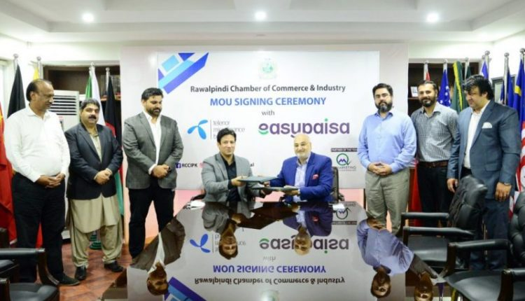 Easypaisa Joins Rawalpindi Chamber of Commerce to Enable Digital Transactions