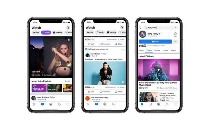 Facebook Is Launching Licensed Music Videos in the United States