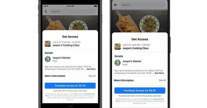Facebook Now Lets Businesses Charge For Online Events