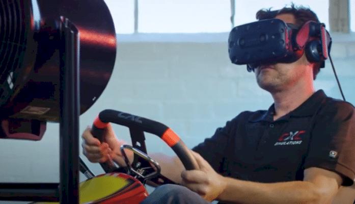 Racing sim company makes VR kart rig with haptic controls