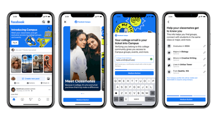 Facebook returns to its roots with Campus, a college student-only social network