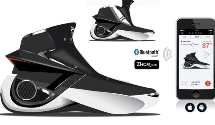 Smart shoes retransmit vibration from music, films & video games