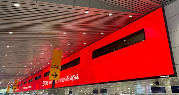 Absen supplies largest airport display in SE Asia