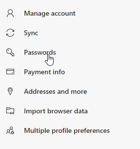 Import Export Edge Passwords