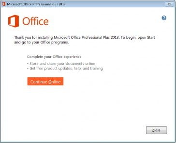 MS Office 13 Installation