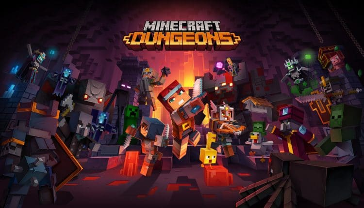 Minecraft Dungeons will receive cross-play support next month