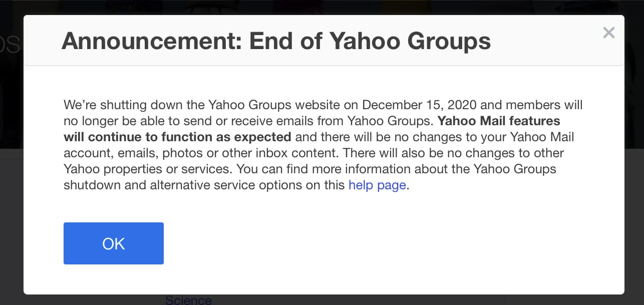yahoo-groups-to-fully-shut-down-on-december-15,-2020