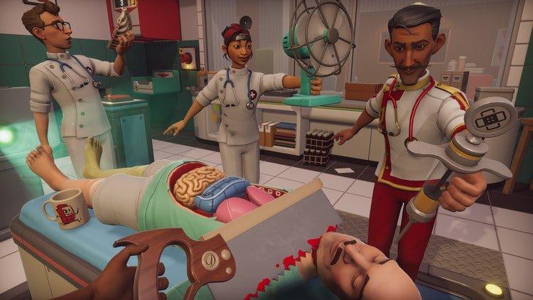 A screenshot of Surgeon Simulator 2