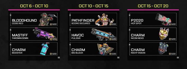 Apex Legends characters and events