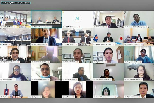 Delegates at the 13th ASEAN Japan Cybersecurity Policy Meeting virtual conference