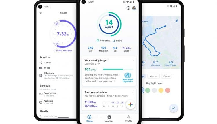 Google adds health hub & sleep tracking metrics its Fit mobile apps