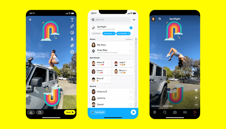 Snapchat Spotlight to compete with TikTok $1M for contributors