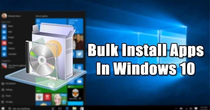 How to Bulk Install Apps with Windows 10 Package Manager