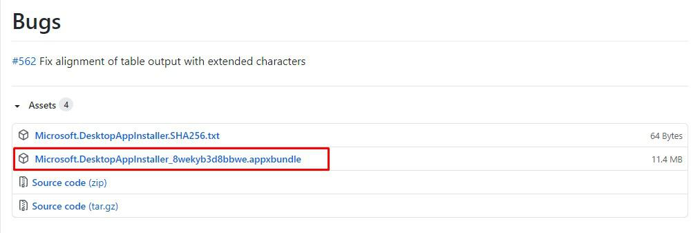 download the latest appxbundle