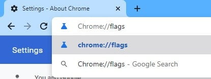 enter'chrome://flags' in the address bar