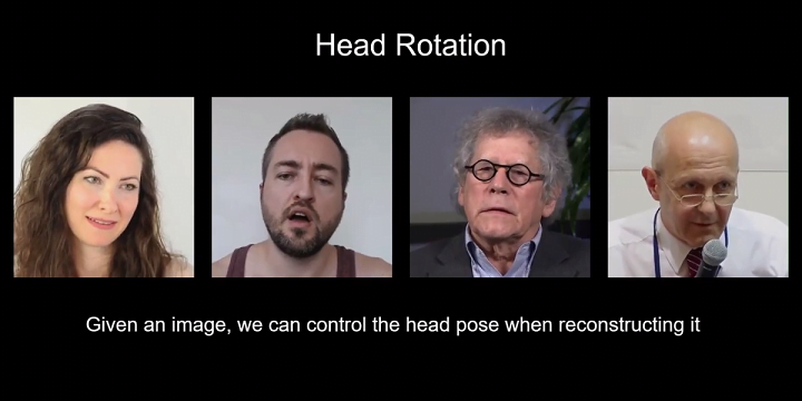 Nvidia AI for generating talking heads video conference from 2D images