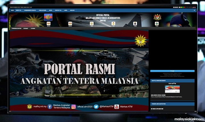 Cyberattack on Malaysian armed force 'MAF' data network