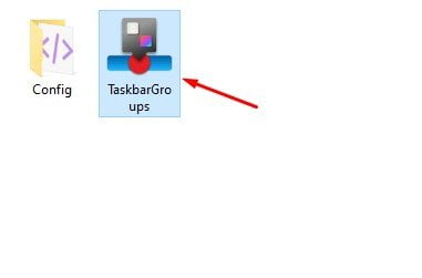 double click on the'Taskbar Groups.exe' file