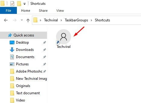 Access the Shortcuts folder
