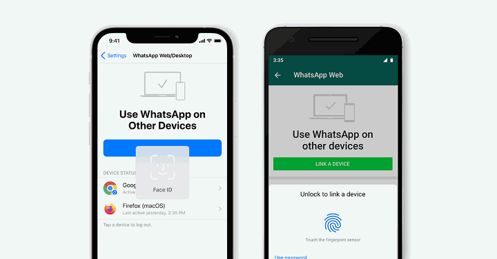 WhatsApp adds biometric authentication for logging on desktop
