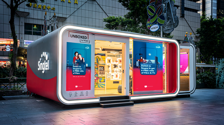 Singtel deployed 5G connectivity kiosks in Singapore