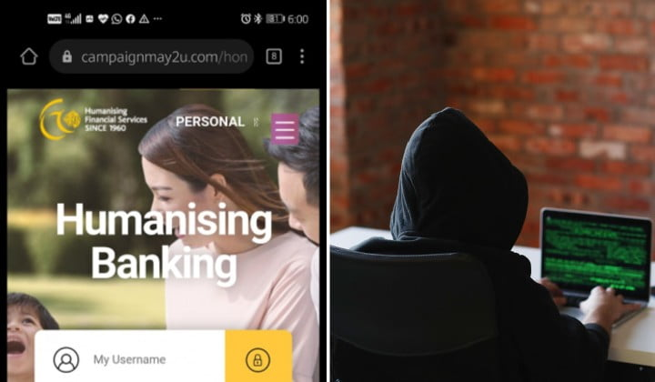 Fake Maybank2u website by scammers to steal banking info
