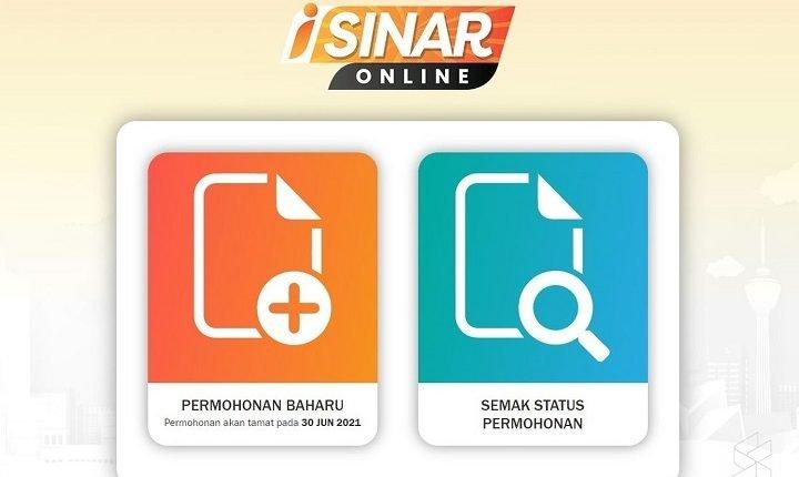Malaysians facing i-Sinar Online application status display error