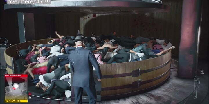 Hitman 3 Player Spends 10 Hours to Crush Every NPC in the Grape Press