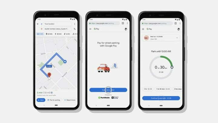 Google Maps new feature 'Pay for Parking' in google maps app