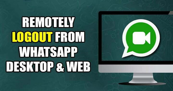 How to Remotely Logout From WhatsApp Desktop & Web Version